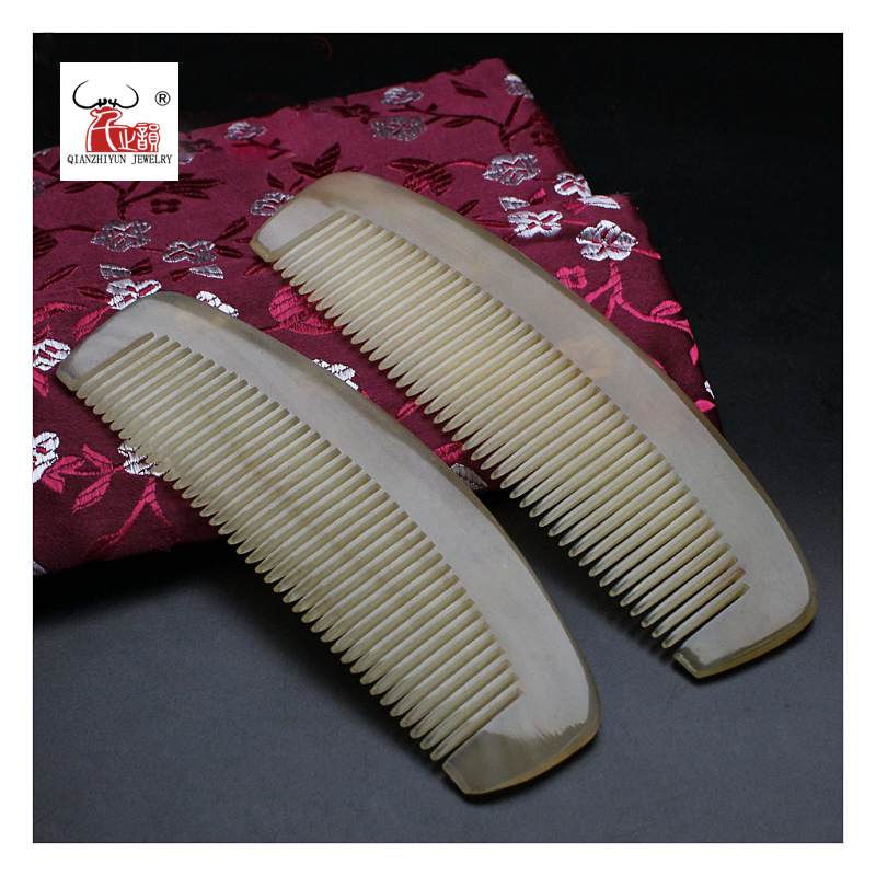 Comb Horn-Beads Yak-Horn Hairdressing Handmade Natural Mustache Health-Care Anti-Static