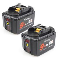 2 Pack Waitley 18V 9.0Ah Battery Makita BL1830 BL1830USB BL1840 BL1850 BL1860 194204-5 18Volt 9000mAh Lithium-Ion Replacement Ba [category]
