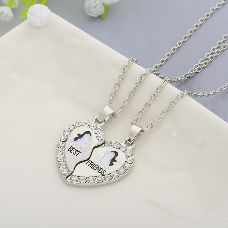 HTB1MUn UHvpK1RjSZPiq6zmwXXaQ - 2 PCS/Set Animal Best Friends Friendship Couple Two Parts Pendant Necklace Best Gifts For Men Women BFF Jewelry