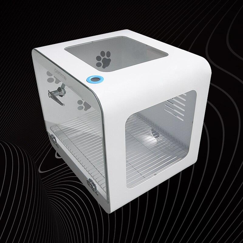 Белая полностью автоматическая сушилка для собаки коробка из закаленного стекла + акриловая пластина фен для маленьких домашних животных с