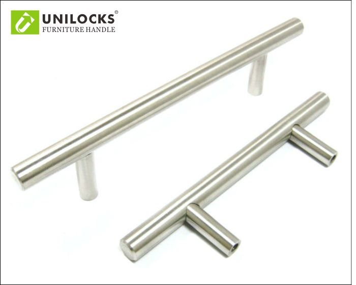 stainless steel kitchen cabinet t bar pull handle knobs c c 64mm