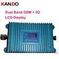 モデル980 27dbmのデュアルバンドリピータgsm 900 mhzブースター+ 3グラムwcdma 2100 mhzリピータデュアルバンド携帯電話ブースター、2000平方メートル使用