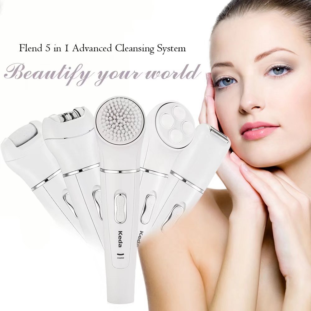 New products 2018 electric facial cleansing brush beauty equipment best 5 in 1 facial brush Exfoliator Clean Skin SPA Cleaner electric rotating facial pores cleaning cleansing washing brush face cleaner cleanser skin exfoliator brightening machine