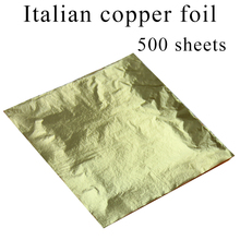 500 sheets Italian copper material imitation gold leaf foil gilding for home art crafts decorations 16X16cm free shipping
