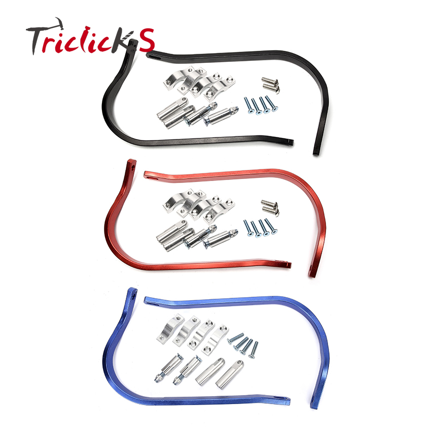 Triclicks Universal 7/8 ''22mm Guidon Handguard Main Garde Moto Dirt Bike MX VTT Garde De Protection L & R main Gardes