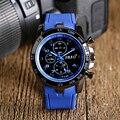 Стимпанк Подросток Холодный Синий Силиконовой Резины Наручные Часы Мужчины Спорт Армия Кварцевые Часы Женщины Часы Подарок Онлайн Продажи