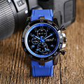 Steampunk Teenager Cool Blue Silicone Rubber Wristwatches Men Sports Army Quartz Watch Women Clock Gift Online Sale