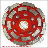 Diameter 100mm Diamond Double Row Cup Wheel For Concrete Abrasive Material 4inch Grinding Wheel Bore 22