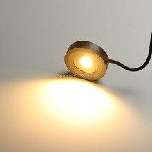 Luces LED para debajo del armario, luz de Puck redonda para cocina, estante para mostrador, armario, vitrina, cajón, muebles, iluminación