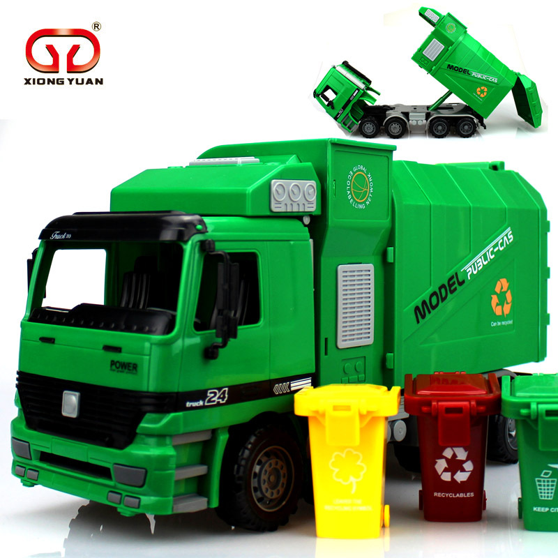 37Cm Diecast Model Buses Toy Garbage Truck Autorama Brinquedo Eco-friendly Car Transport Vehicle Model Toy Gift For Boy Children