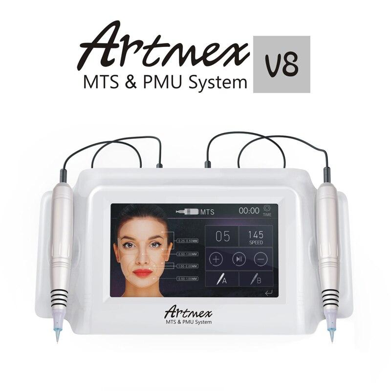 Artmex V8 Maquillage Permanent des Sourcils Machine De Tatouage Eyeliner Lèvres MTS Pistolet de Tatouage Du Visage Thérapie Anti Vieillissement De Tatouage Machines