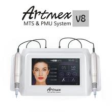 купить Artmex V8 Permanent Makeup Tattoo Machine Eyebrow Eyeliner Lips MTS Tattoo Gun Facial Therapy Anti Ageing Tattoo Machines дешево