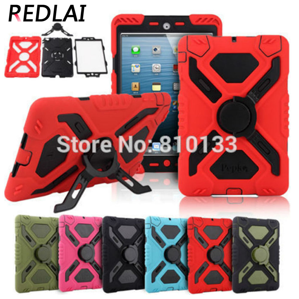Redlai Pepkoo Spider Extreme Military Heavy Duty Waterproof Dust Shock Proof For Ipad 2 Stand Case For Ipad 3 For iPad 4 pepkoo spider series silicone pc extreme heavy duty cover for ipad 2 3 4 blue rose
