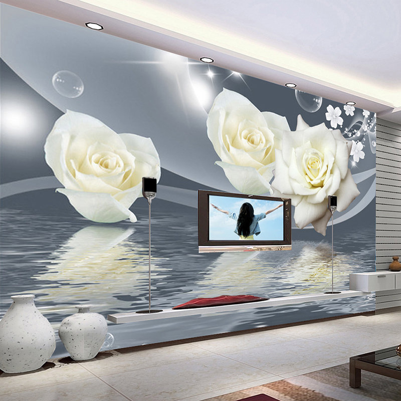 Custom Any Size 3D Wall Mural Wallpaper Painting Wall Decor Art Modern Living Room TV Background Photo Wall Paper Rose Flower