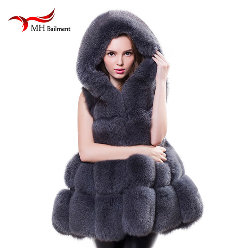 Real Fur Vest Women Fox Fur Vest Äkta rävpälsmaterial Mode - Damkläder