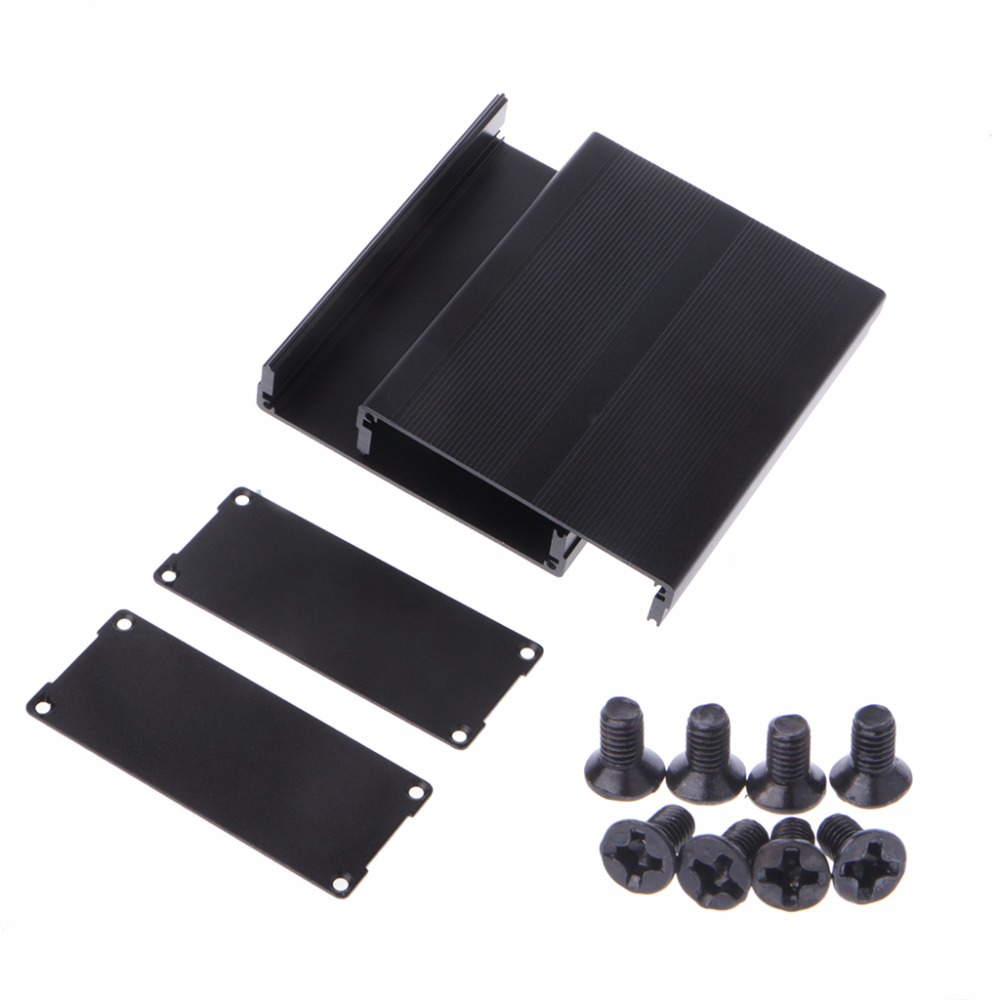BGEKTOTH 120x97x40mm Aluminum Box Enclosure DIY Electronic Project Black Instrument Case  1A60472 1pc electronic project instrument box black aluminum enclosure case 100x66x43mm mayitr with corrosion resistance