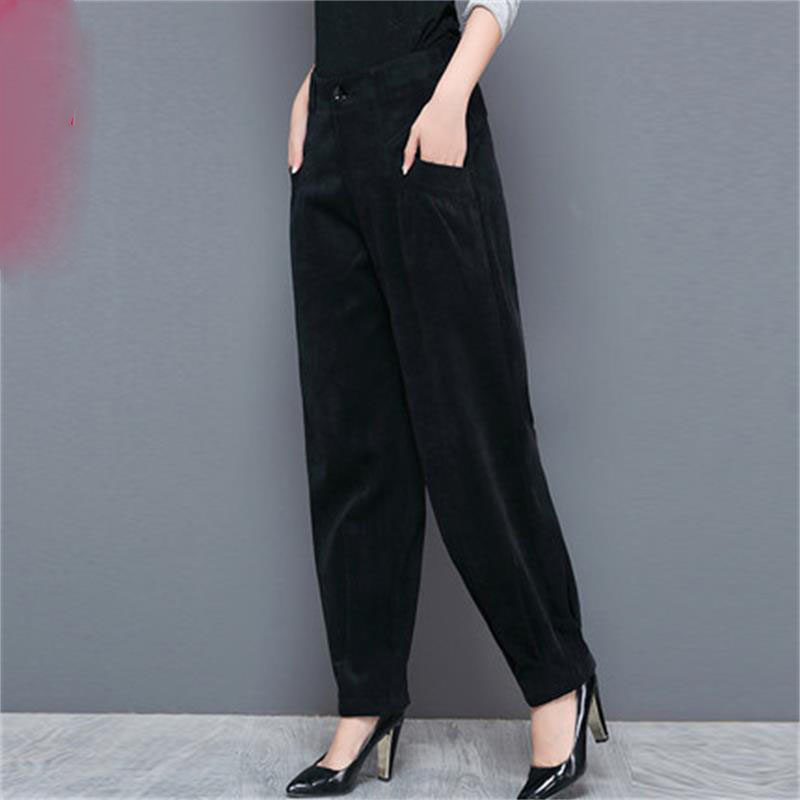 Mode femmes automne grande taille lanterne hiver pantalons décontractés Slim mince harem pantalon taille haute carotte printemps pantalon