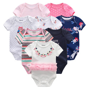 Image 3 - 2019 תינוק ילד בגדי יוניסקס 8 יח\חבילה חדש נולד תינוק בגדי בגד גוף Unicorn כותנה תינוקת בגדי Roupa דה bebe