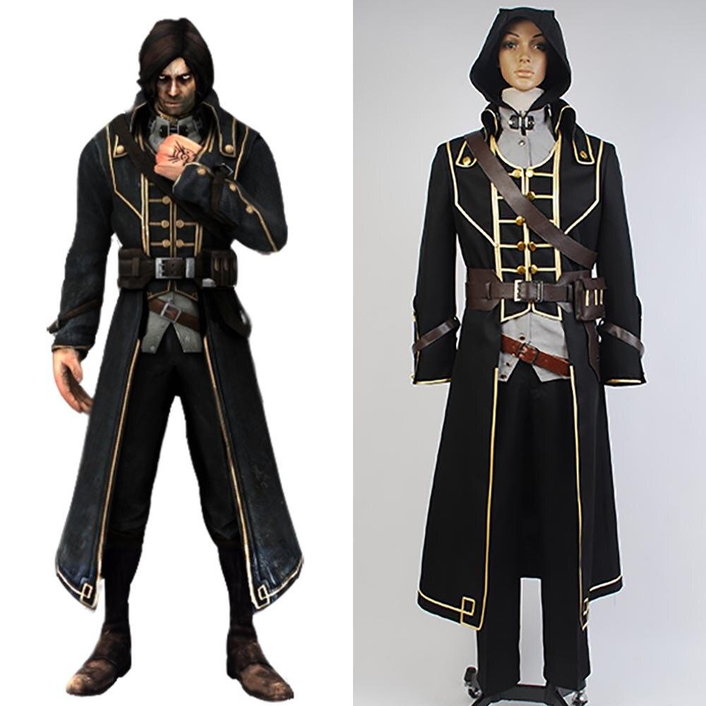 Dishonored Cosplay Corvo Attano Costume Carnival Cosplay Costume Full Sets Uniform Cloth High Quality Men Halloween