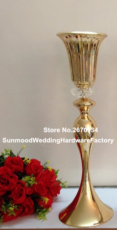 Us 350 0 Mental Trumpet Tall Vase Flower Vase Wedding Centerpiece Table Decoration Mordern Events Vase Decor Idea In Glow Party Supplies From Home