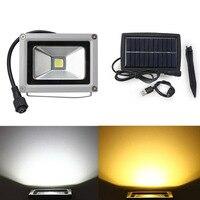 10W LED Solar Light Waterproof Floodlight LED Outdoor Garden Light Decoration Landscape Spotlight Wall Lamp Bulb