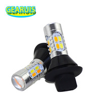 2X Car Auto BAU15S 1156 BA15S T20 7440 20 SMD 5630 5730 White To Yellow Amber