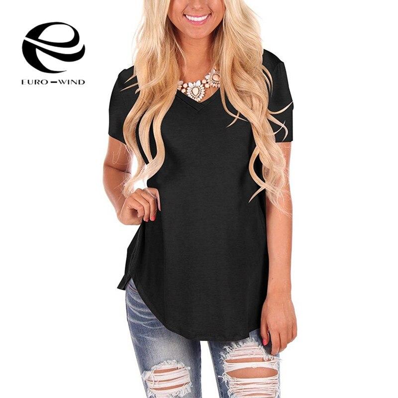 Plus Size 5XL T-shirt Women Summer Sexy V-Neck T-shirt Casual Loose Basic Shirt Short Sleeve Tops Tees Solid Top Camisa Feminina