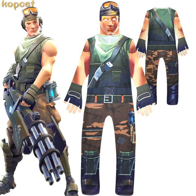 2018 New Fortnited Costume Kids Streetwear Costumes Boys Jumpsuits fortnited Cosplay Children Halloween Festive Party Supplies 1