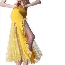Танец живота костюмы старший Sexy Серебряная пряжа «рыбий хвост» танец живота юбка для женщин Танец живота одежда юбки