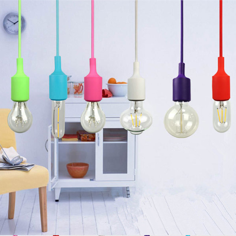 EHOME Modern Colorful E27 Pendant Light Suspension Drop Lamp Vintage Edison Bulbs Bar Restaurant Pendant Lamp мужские часы technomarine tm515004