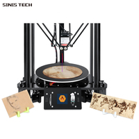 EZT T1 Laser Engraving 3D Printer Kits Kossel Delta 3D Printer Large Color Screen Size High Precision with Quality Power Supply