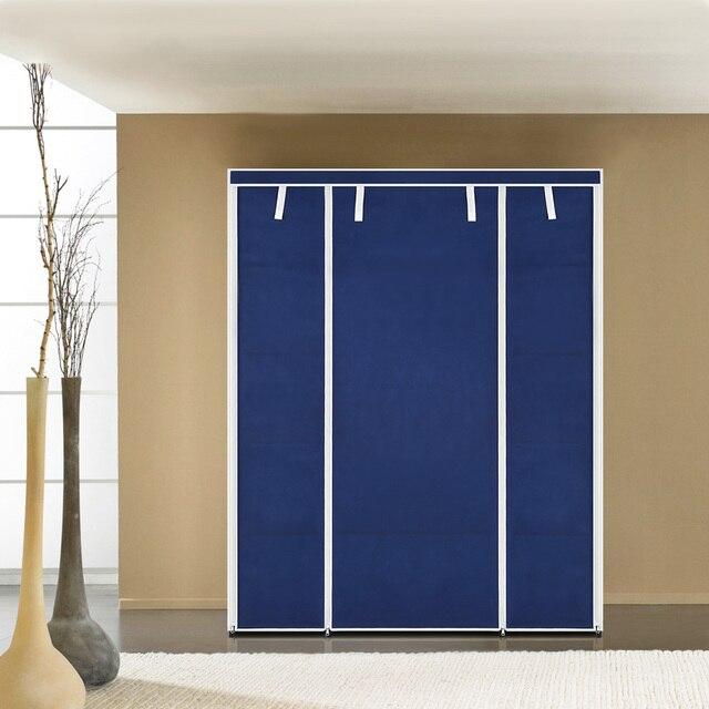 Ikayaa us uk fr stock wardrobe storage closet wardrobe clothing hanger bedroom furniture wardrobe cabinet clothes