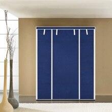 iKayaa US UK FR Stock Wardrobe Storage Closet Wardrobe Clothing Hanger bedroom furniture Wardrobe Cabinet Clothes Hanger Rack