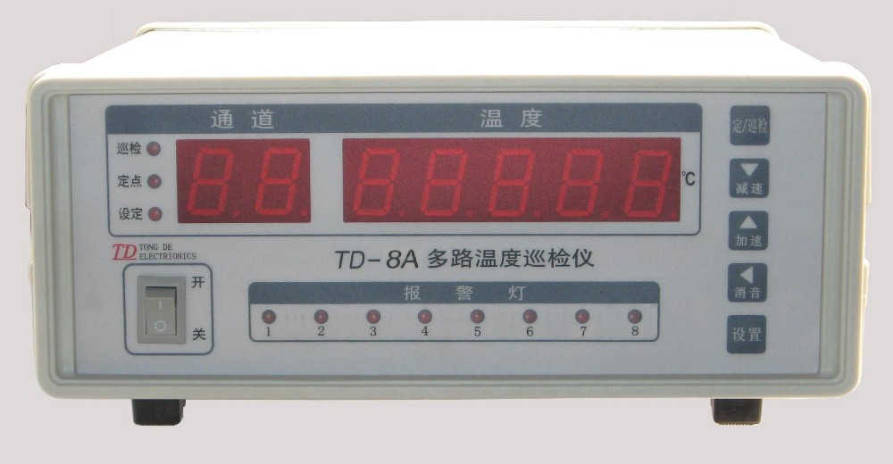 Schnelle ankunft TD-8A-502 Multi-Kanal Temperatur Meter Kanal 8 thermoelement <font><b>R</b></font>, S, B, T. standard typ T image