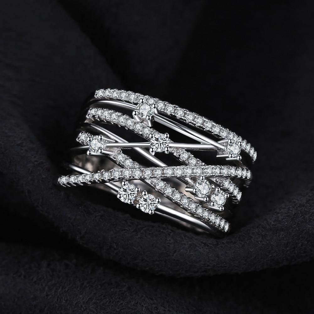SmyckenPalace Lyxigt Runt Bredband Cocktail Ring För Kvinnor Äkta - Fina smycken - Foto 4