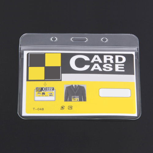 10pack 10 x show clear vertical id badge card plastic pocket holder