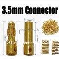 20 par/lote 3.5mm Ouro Bala Banana conector para ESC bateria Lipo RC Plugs Melhor qualidade