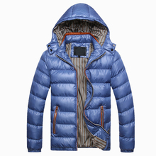 2017 Autumn Winter Men's Clothes Fashion Turn-Down Collar Solid Zipper Parkas Man Jackets Coats With Hooded For Male AQ829045