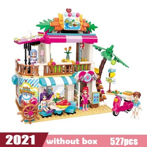 Image 3 - Dziewczyny nad morzem plaża zjeżdżalnia Park rozrywki dom Party Dolphin Rescue zestawy klocków budowlanych cegły przyjaciele zabawka dla dzieci
