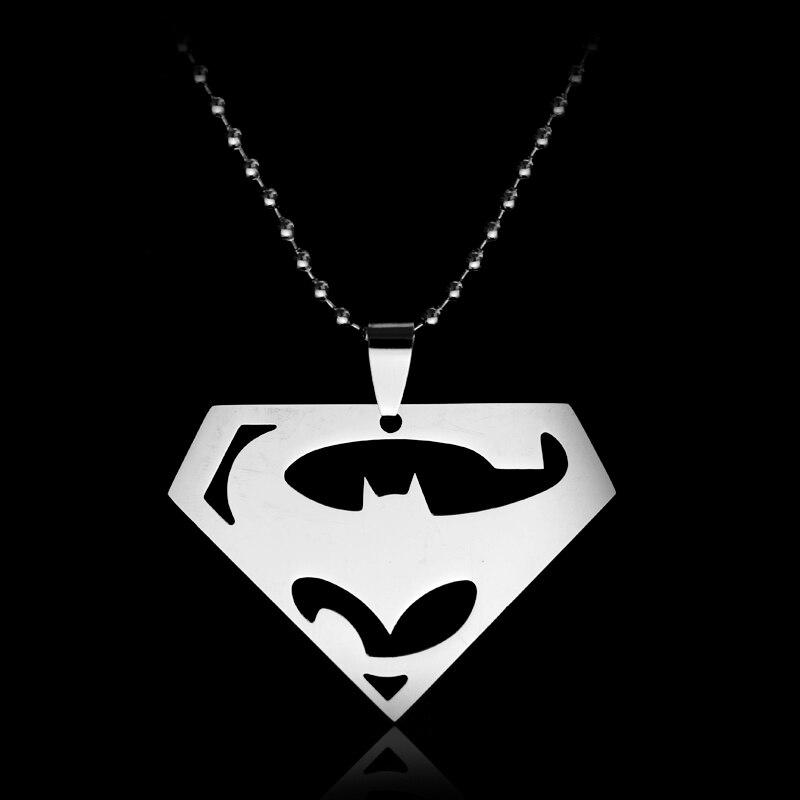 Batman VS Superman Logo Necklace DC Comics Super Hero