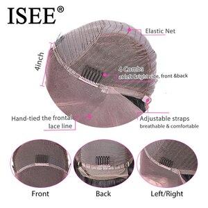 Image 5 - 브라질 변태 곱슬 HD 투명 레이스 정면 가발 여성 13x4 ISEE 머리 인간의 머리가 발 180% 밀도 레이스 프런트가 발