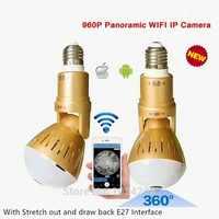 Beste Design Birne Lampe V380 Wireless IP Kamera Wifi 960 p Panorama FishEye Home Security CCTV Cam 360 Grad Wifi kamera