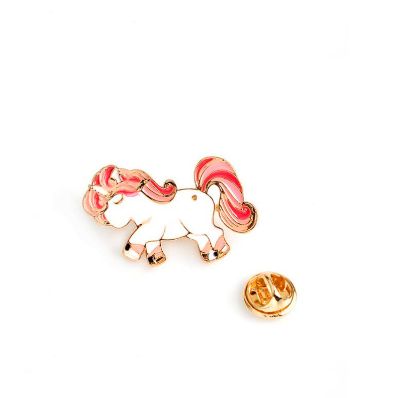 Oly2u New Fashion lovely animal Clothes brooch Red hair flying horse broches bijou cheap brooch BP158