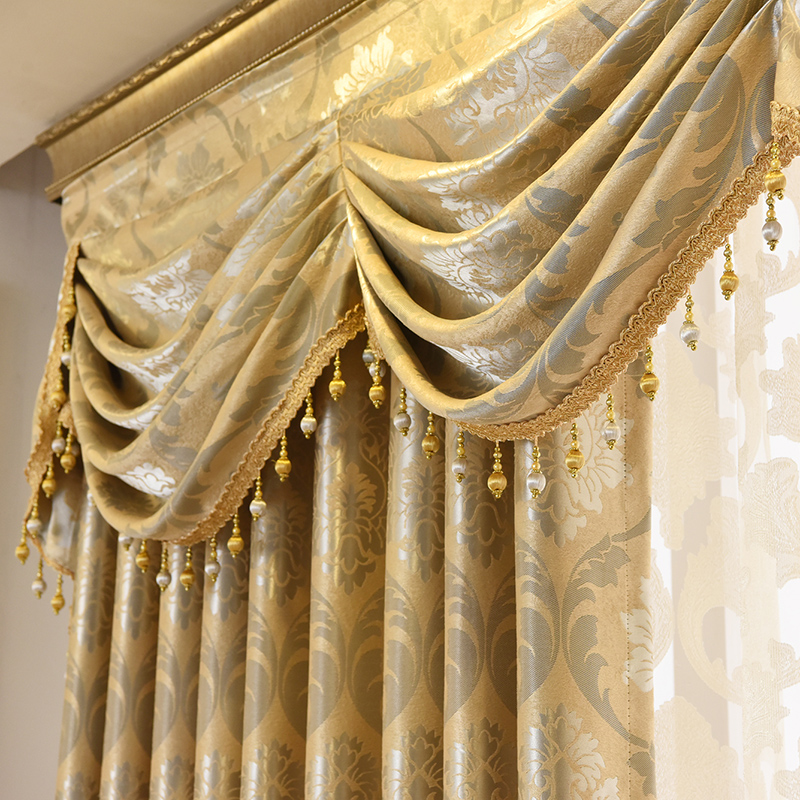 Curtains Tulle for Living Room Dining Bedroom Valance Luxury European Style Thickening Shading Modern Window Mantle  Villa window valance
