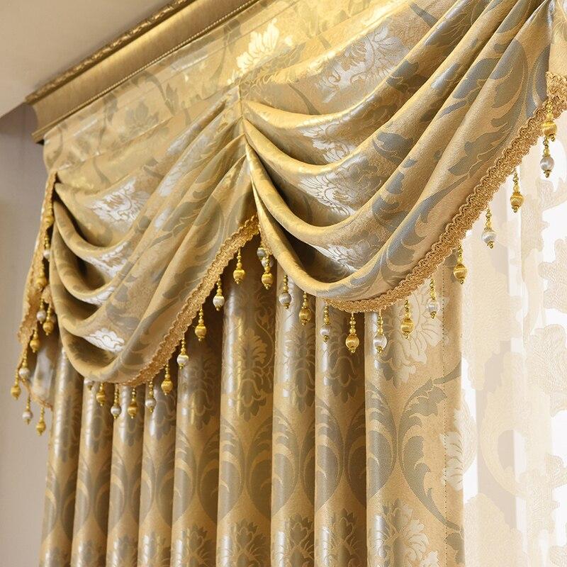 Vorhänge Tüll für Wohnzimmer Esszimmer Schlafzimmer Valance Luxus Europäischen Stil Verdickung Schattierung Moderne Fenster Mantel Villa