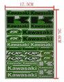10 шт. отличительные знаки наклейки ямы байк гонки улица мотокросс крест мотоциклов мопедов ATV для KAWASAKI автохимиясовременная наклейка
