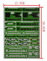 10 unids Decals Stickers Pit Dirt Bike Racing calle Off Road Motocross Cross vespa de la motocicleta ATV para KAWASAKI Motor etiqueta del coche