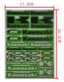 10pcs Decals Stickers Pit Dirt Bike Racing Street Off Road Motocross Cross Motorcycle Scooter ATV for KAWASAKI Motor Car Decal