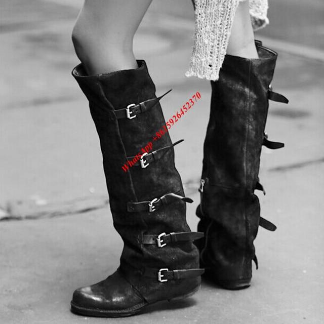 femme botte chaussure réel cuir Boots noir qnKi2