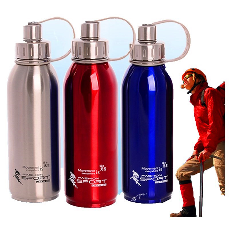 Outdoor Thermos thermal Bottle Sports Garrafa Cup Stainless Steel Vacuum Flask Large Capacity Portable Travel Insulation